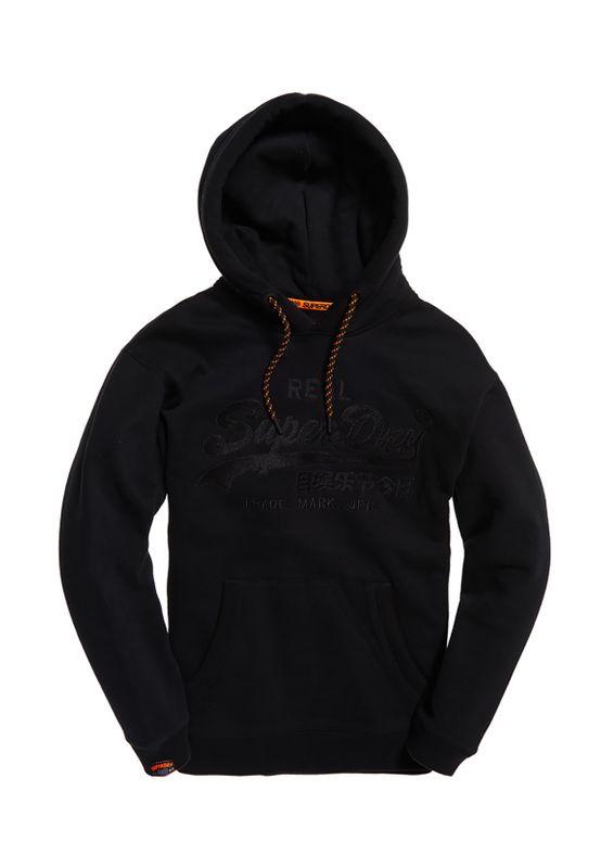 Superdry Sweater Herren VINTAGE LOGO APPLIQUE HOOD Black – Bild 0