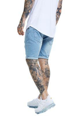 SikSilk Herren Jeans Short DISTRESSED SKINNY SHORTS SS-13008 Light Wash – Bild 3