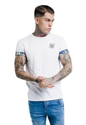 SikSilk Herren T-Shirt SS ROLLED SLEEVE SCOOP TEE SS-13905 White – Bild 1