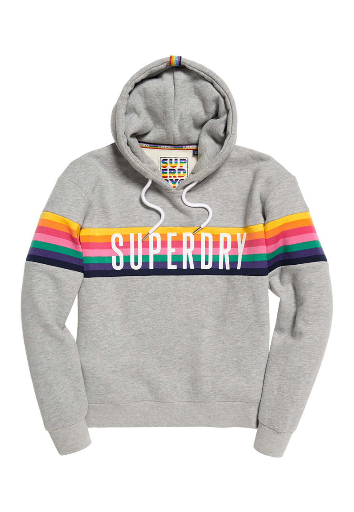 71a1ad1609 Superdry Sweater Damen CARLY CARNIVAL Pebble Grey Marl Damen Sweater ...