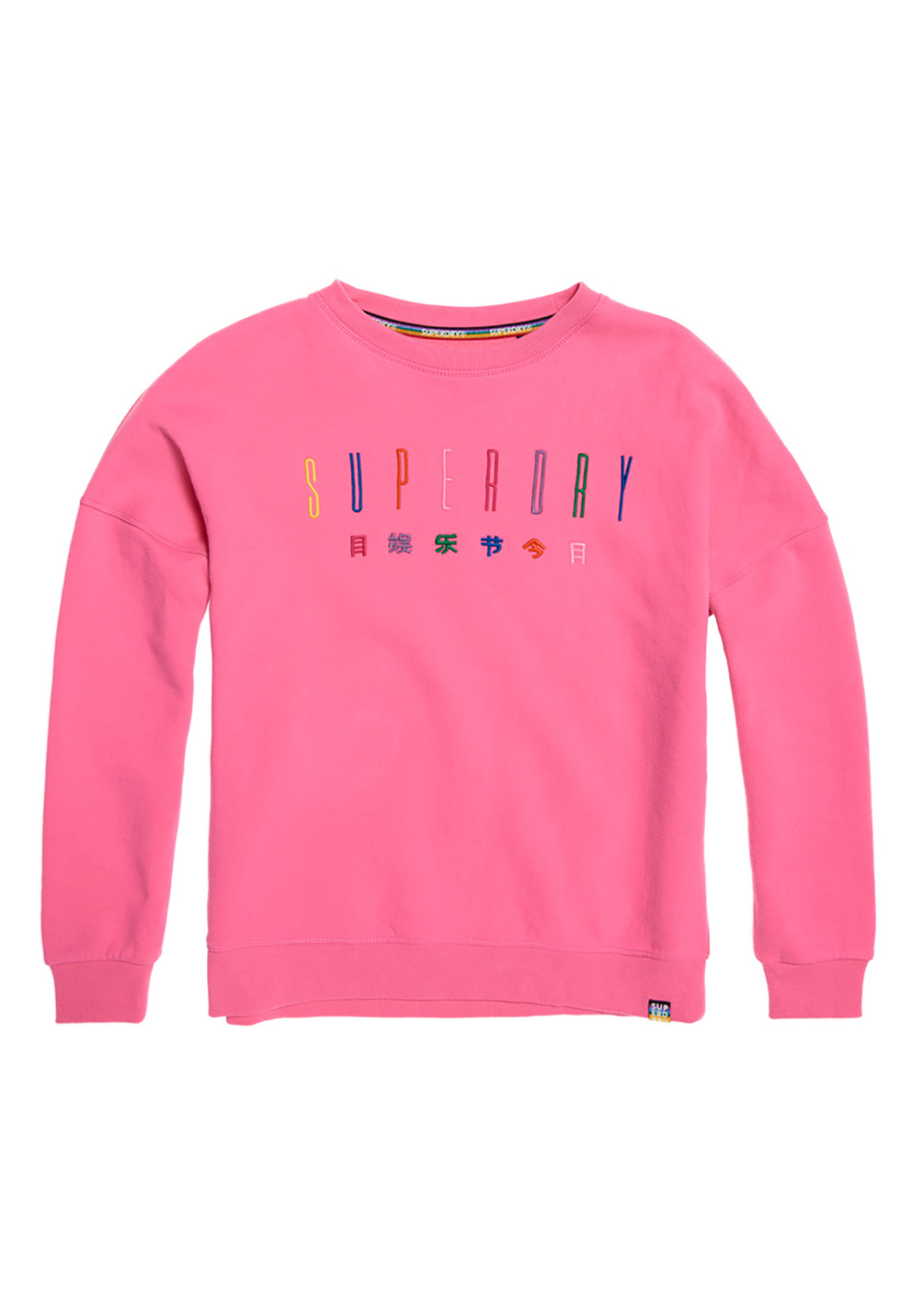 the latest 0453f 26806 Superdry Sweatshirt Damen CARLY CARNIVAL EMBROIDERED Active Pink