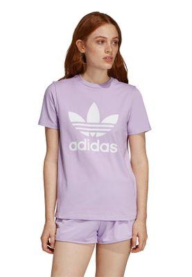 Adidas Originals T-Shirt Damen TREFOIL TEE DV2595 Lila – Bild 1