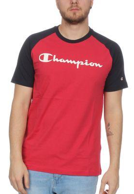 Champion T-Shirt Herren 212688 S19 MS038 AMB/NNY Rot Dunkelblau – Bild 0