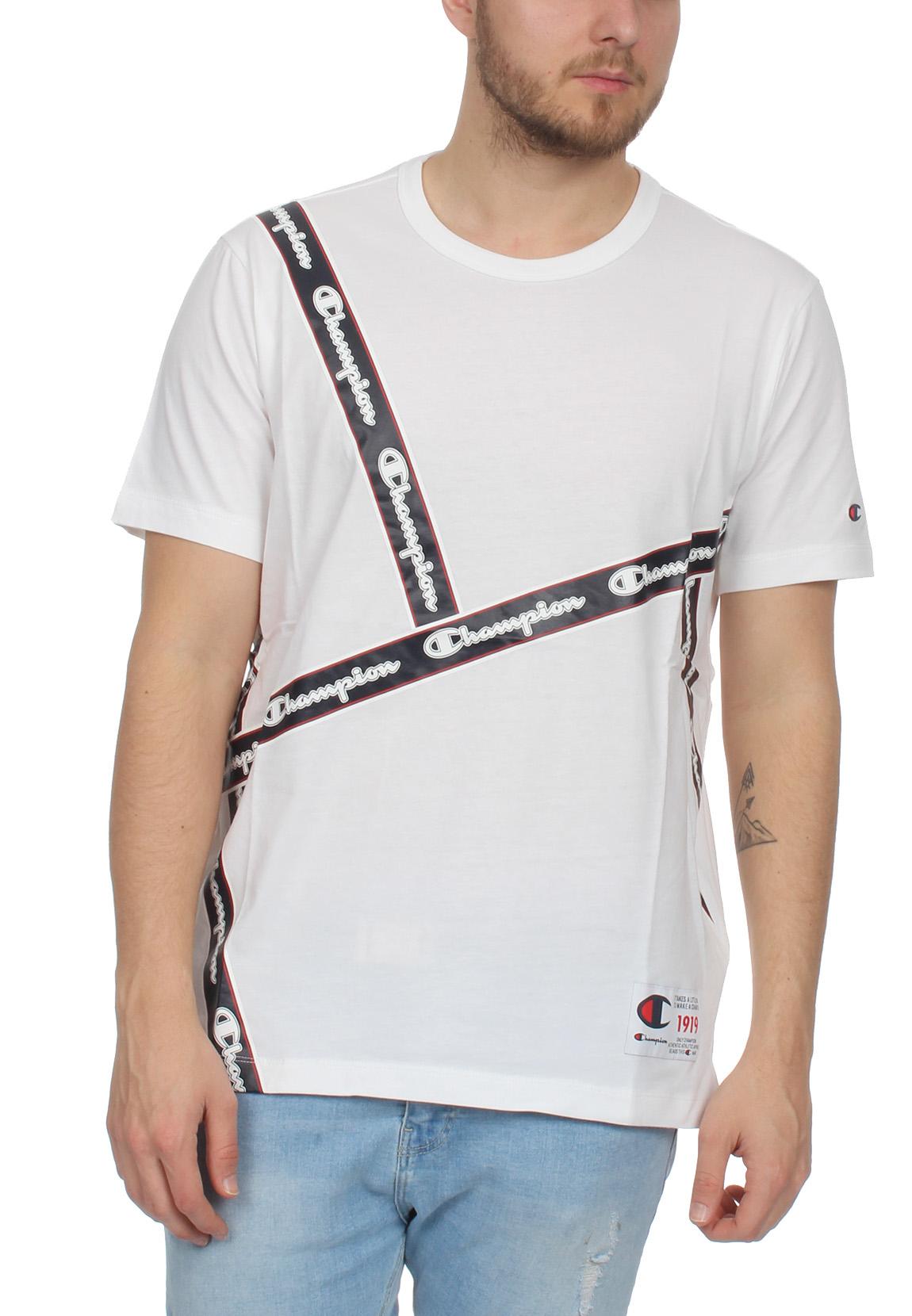 best authentic 82975 1ee88 Champion T-Shirt Herren 212808 S19 WW001 WHT Weiss
