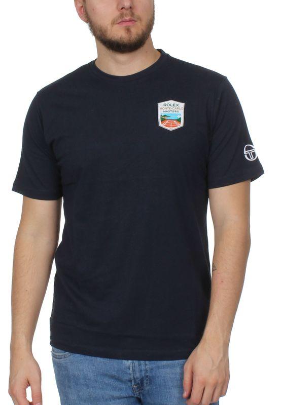Sergio Tacchini T-Shirt Herren CHAU Mc Mch 38135 Navy White – Bild 0