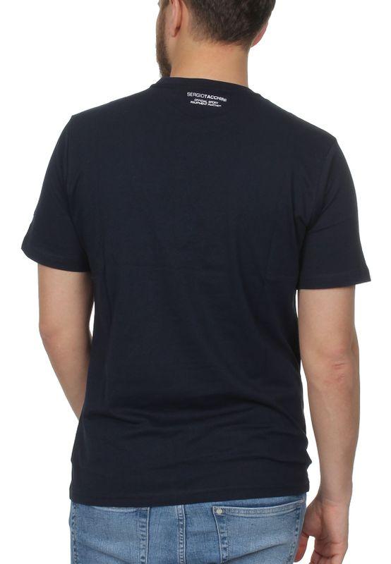 Sergio Tacchini T-Shirt Herren CHAU Mc Mch 38135 Navy White – Bild 2