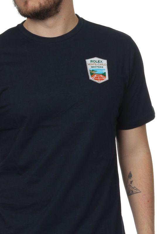 Sergio Tacchini T-Shirt Herren CHAU Mc Mch 38135 Navy White – Bild 3