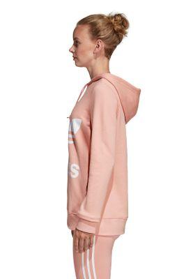 Adidas Originals Sweater Damen TREFOIL HOODIE DV2560 Rosa – Bild 2