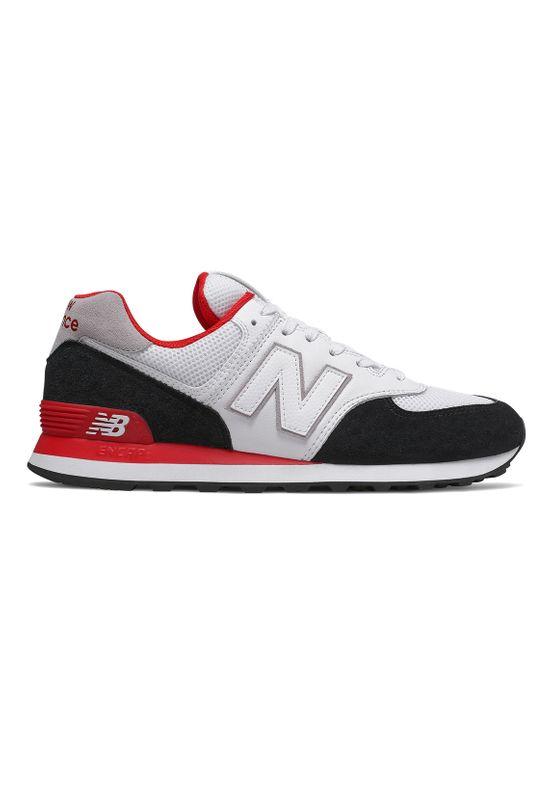 New Balance Sneaker Herren ML574NSB Mehrfarbig Black Red – Bild 1