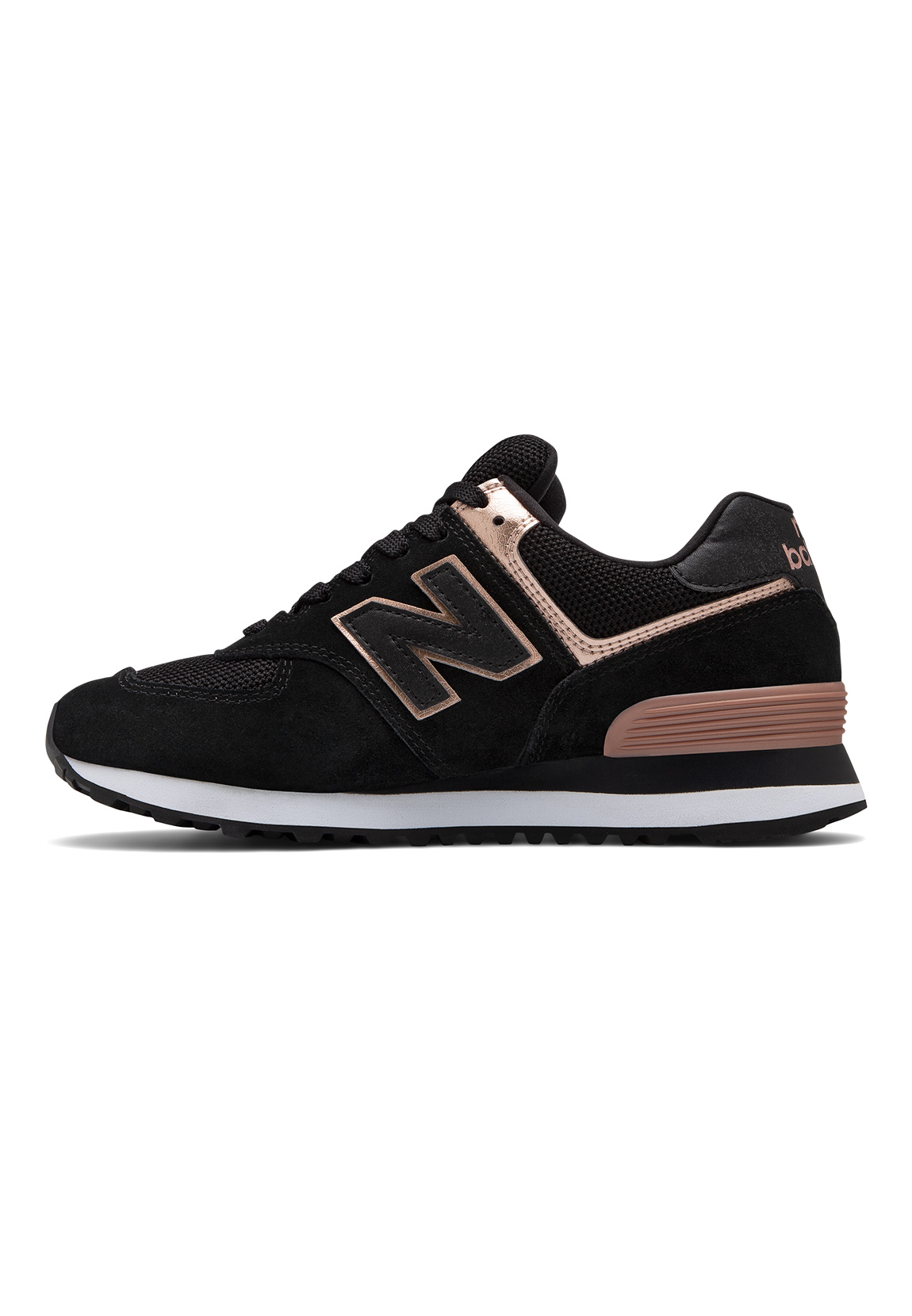 new balance sneaker damen wl574mea schwarz black schuhe damen. Black Bedroom Furniture Sets. Home Design Ideas