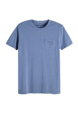 Scotch & Soda T-Shirt Men GARMENT-DYED CREWNECK TEE 149000 Blau 0155 Denim Blue