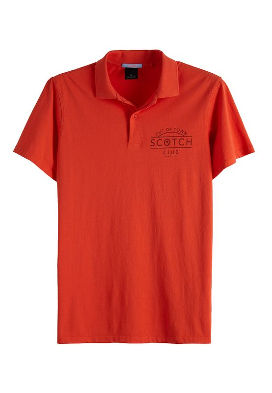 Scotch & Soda Polo Men CLASSIC LOGO JERSEY POLO 149082 Rot 2746 Koralle Ansicht