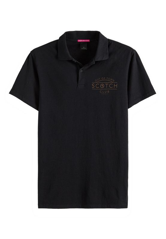 Scotch & Soda Polo Men CLASSIC LOGO JERSEY POLO 149082 Schwarz 0008 Black Ansicht