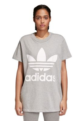 Adidas Originals T-Shirt Damen BIG TREFOIL TEE CY4762 Grau – Bild 1