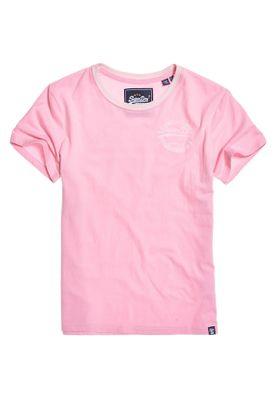 Superdry T-Shirt Damen VINTAGE LOGO HERITAGE ENTRY Fondant Pink – Bild 0