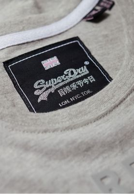 Superdry T-Shirt Damen VINTAGE LOGO TONAL ENTRY Grey Marl – Bild 3