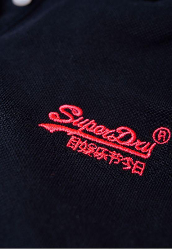 Superdry T-Shirt Damen COTTON POLO TOP Eclipse Navy – Bild 2