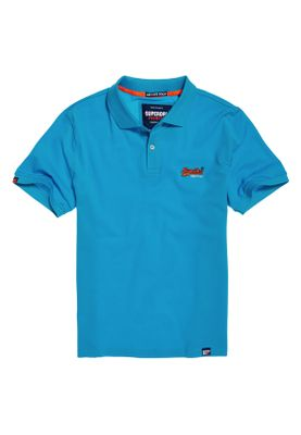 Superdry Polo Herren MERCERISED LITE CITY POLO Turquoise  – Bild 0