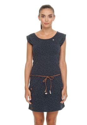 Ragwear Kleid Damen TAG DOTS 1911-20020 Dunkelblau Navy 2028