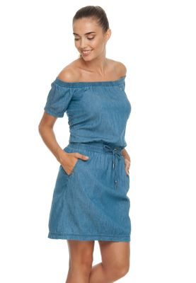 Ragwear Kleid Damen EVERLY DENIM 1911-20015 Blau Blue 2040