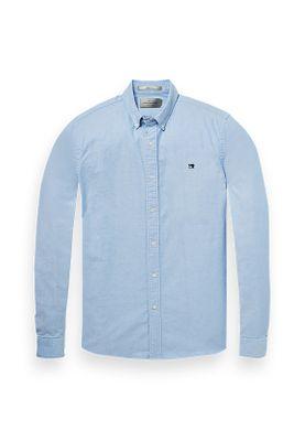 Scotch & Soda Hemd Men NOS OXFORD SHIRT 145430 Blue 0765 Hellblau