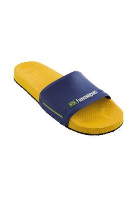 havaianas Badesandalen SLIDE BRASIL FC 4142616 1652 Blau Gelb Amarelo Banana – Bild 2