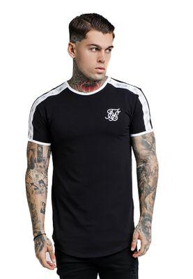 SikSilk Herren T-Shirt S/S CURVED HEM GYM TEE SS-13349 Schwarz Black – Bild 0