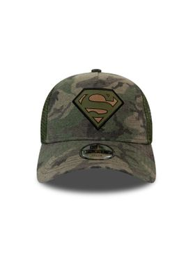New Era Kids Camo 9 Forty Kinder Trucker Cap SUPERMAN Camouflage – Bild 1