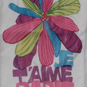 Junk Food Tank Top Je T`aime Paris Flower Women - Weiss – Bild 2