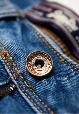 Superdry Shorts Damen DENIM LACE HOT SHORT Pool Blue Lace – Bild 2