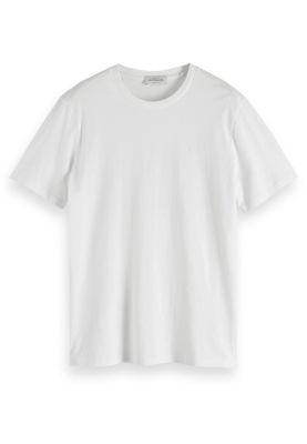 Scotch & Soda Herren T-Shirt NOS COTTON TEE 153657 Weiß 00