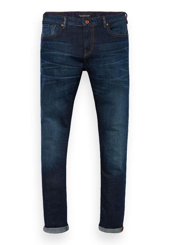 Scotch & Soda Jeans Men SKIM 154390 Dunkelblau Coast to Coast 1887 Ansicht