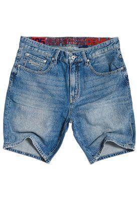 Superdry Shorts Herren CONOR TAPER SHORT Samson Blue  – Bild 0