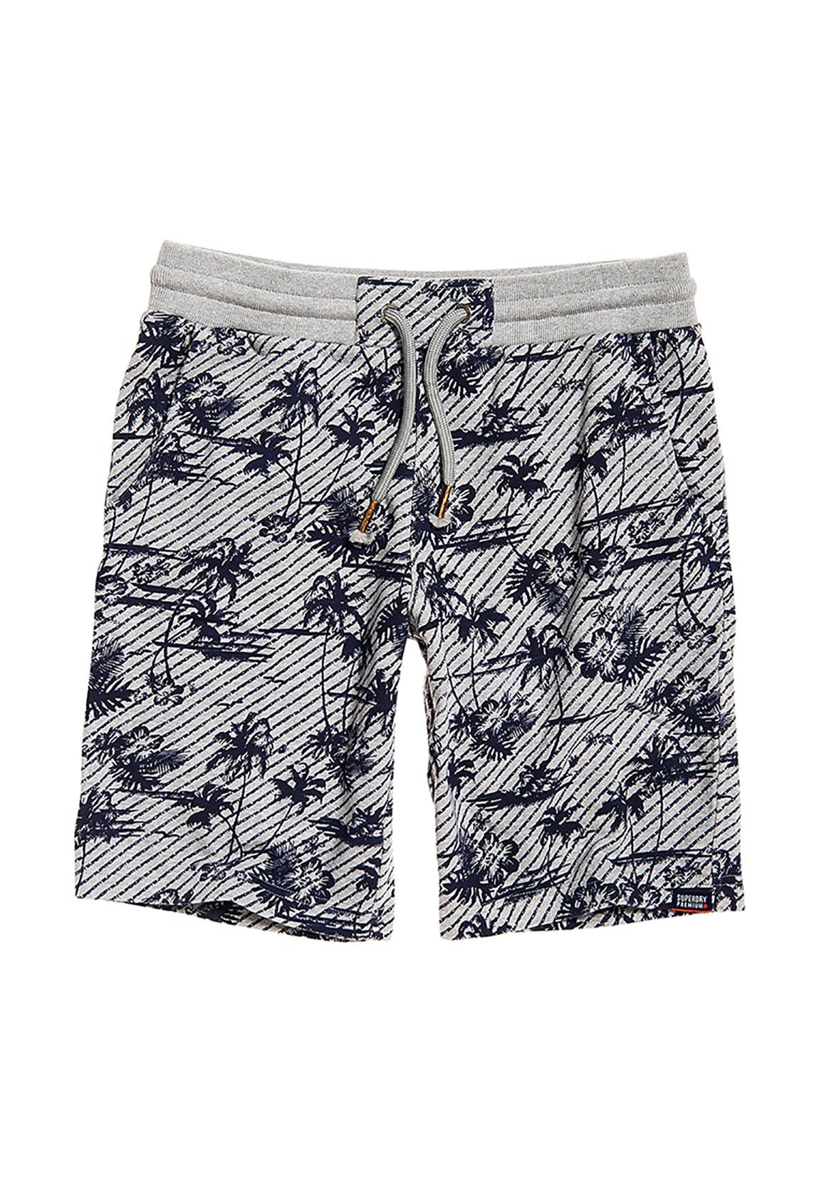 suche nach authentisch Einzelhandelspreise letzte Auswahl Grey SHORT Marl Palm Marl Logo Shorts AOP WASHED Superdry ...