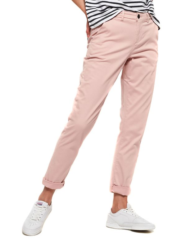 Superdry Chino Damen CITY CHINO PANT Sandy Rose Ansicht