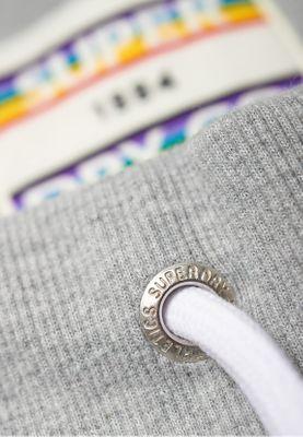 Superdry Shorts Damen CARLY CARNIVAL SHORTS Pebble Grey Marl – Bild 2
