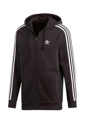 Adidas Originals Herren Sweatjacke 3 STRIPES FZ DV1551 Schwarz – Bild 0