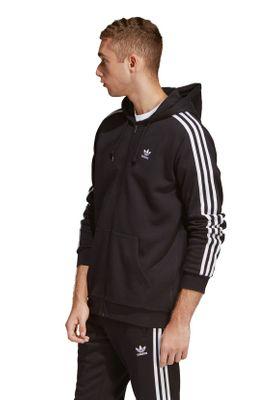 Adidas Originals Herren Sweatjacke 3 STRIPES FZ DV1551 Schwarz – Bild 2
