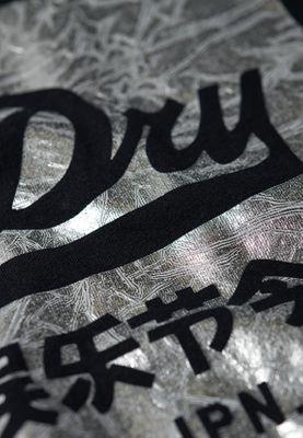 Superdry T-Shirt Damen V LOGO TEXTURED FOIL BOX ENTRY Black – Bild 1