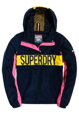 Superdry Jacke Damen CHROMA OVERHEAD Navy Pink Yellow
