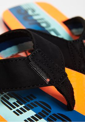 Superdry Zehentrenner Herren TROPHY 2.0 Black Hazard Orange Light Blue – Bild 2
