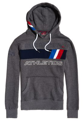 Superdry Sweater Herren TROPHY TRI LINE Academy Grey Grit