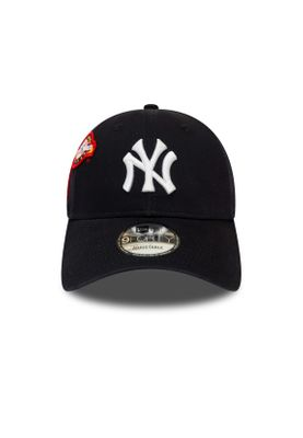 New Era Cooperstown Patched 9Forty Adjustable Cap NY YANKEES Dunkelblau – Bild 1