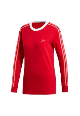 Adidas Originals Longsleeve Damen 3 STR LS TEE ED7498 Rot – Bild 0