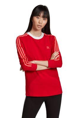 Adidas Originals Longsleeve Damen 3 STR LS TEE ED7498 Rot – Bild 2