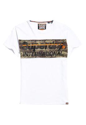 Superdry T-Shirt Herren INTERNATIONAL CAMO PANEL TEE Optic – Bild 0