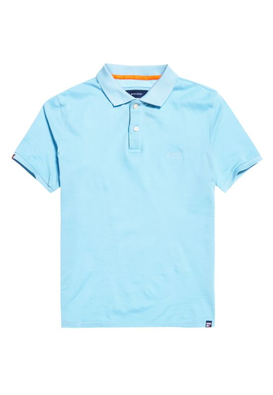 Superdry Polo Herren CLASSIC MICRO PIQUE POLO Wave Blue Ansicht