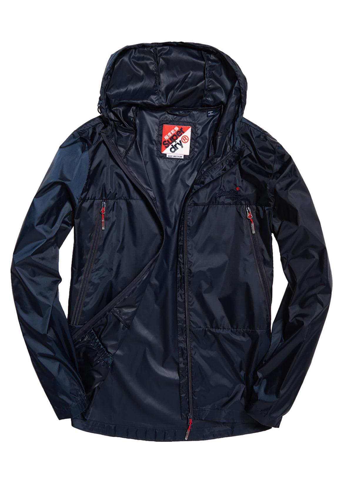 new product 00e49 5d7c4 Superdry Jacke Herren OFFSHORE PACKABLE CAGOULE Navy
