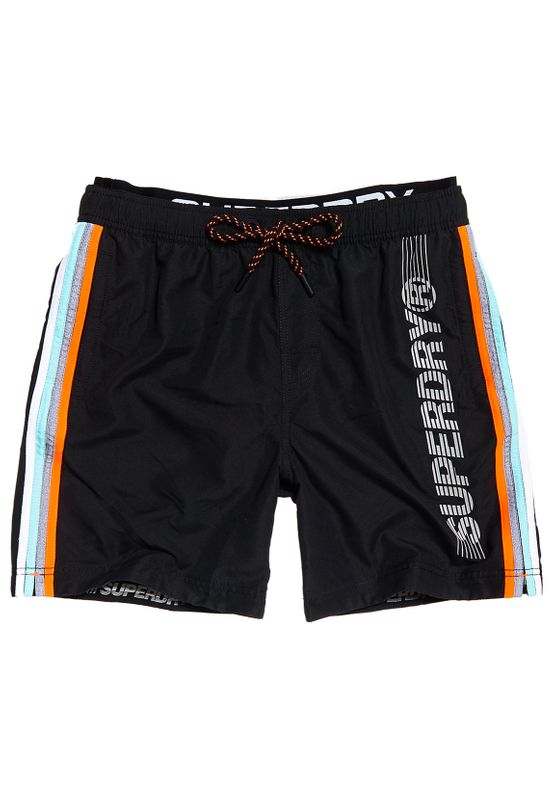 Superdry Badeshorts Herren STATE VOLLEY SWIM SHORT Black Ansicht