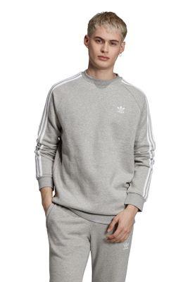Adidas Originals Crewneck Herren 3-STRIPES CREW ED6016 Grau – Bild 2